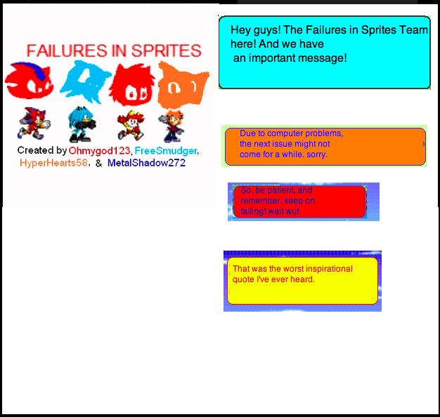Failures In Sprites Important Message