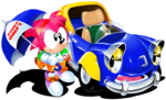Amy with car