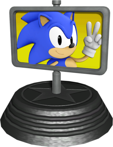 File:Sonic Generations Goal Plate Statue.png