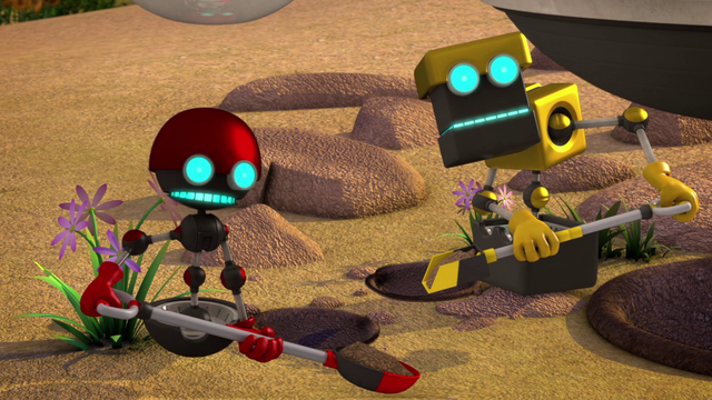 File:Orbot and Cubot with shovels.png