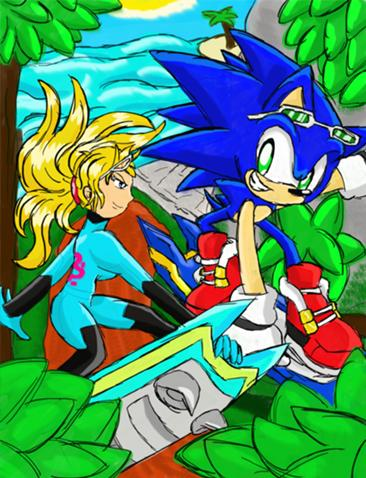 File:Sonic & Samus (Extreme World Grand Prix).jpg