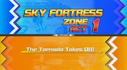 Title Card Act 1 Sky Fortress Zone HD