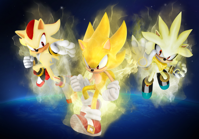 File:Super Sonic Shadow and Silver by SonikkuForever.png
