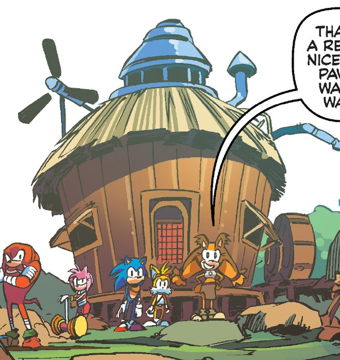 Image   Tails House Archie Comics jpg   Sonic News Network   FANDOM powered  by Wikia. Image   Tails House Archie Comics jpg   Sonic News Network