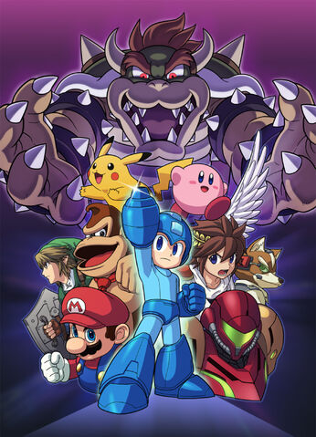 File:Mega Man Artwork Smash.jpg