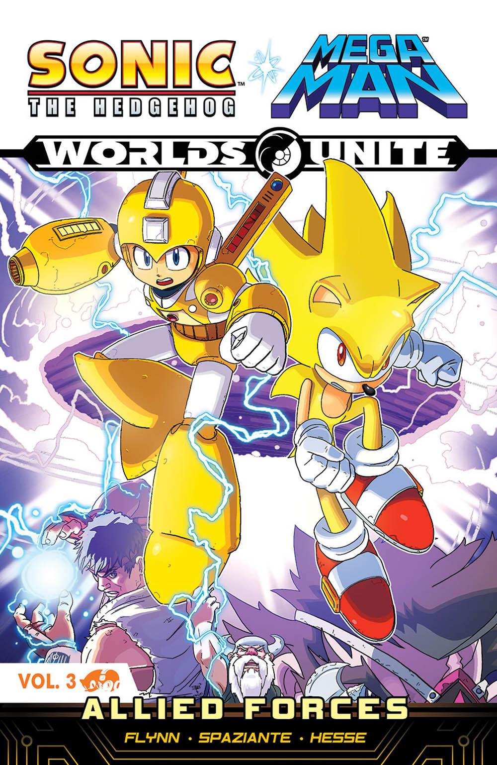 Sonic The Hedgehog Mega Man Worlds Unite Volume 3 Allied
