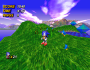 Sonic X-treme engine test screenshot