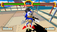Sonic the Fighters Dizzy Sonic