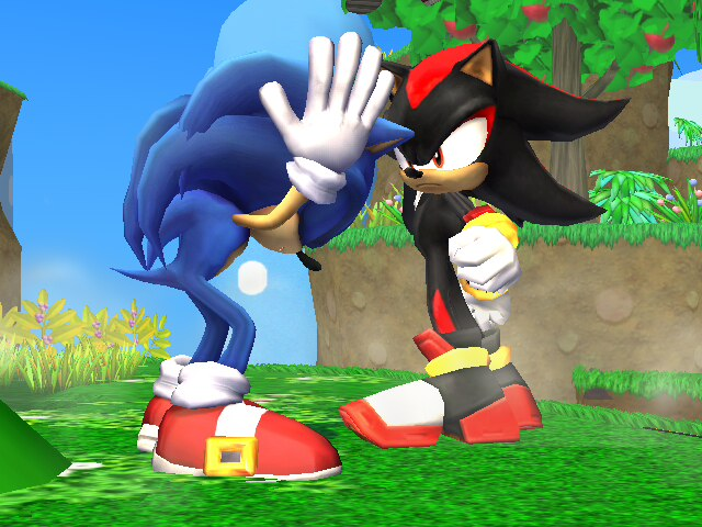 File:SSBB Sonic VS Shadow by cosmovsgoku.jpg
