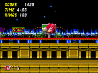 Sonic 2 Knuckles Goal Plate