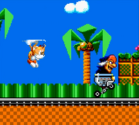 Tails chases witch