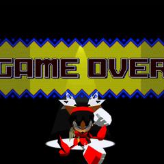 Honey en la pantalla de game over.