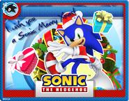 Christmas Sonic Card