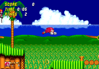 Emerald Hill Knuckles in Sonic 2