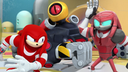 Knuckles and Robo-Knuckles