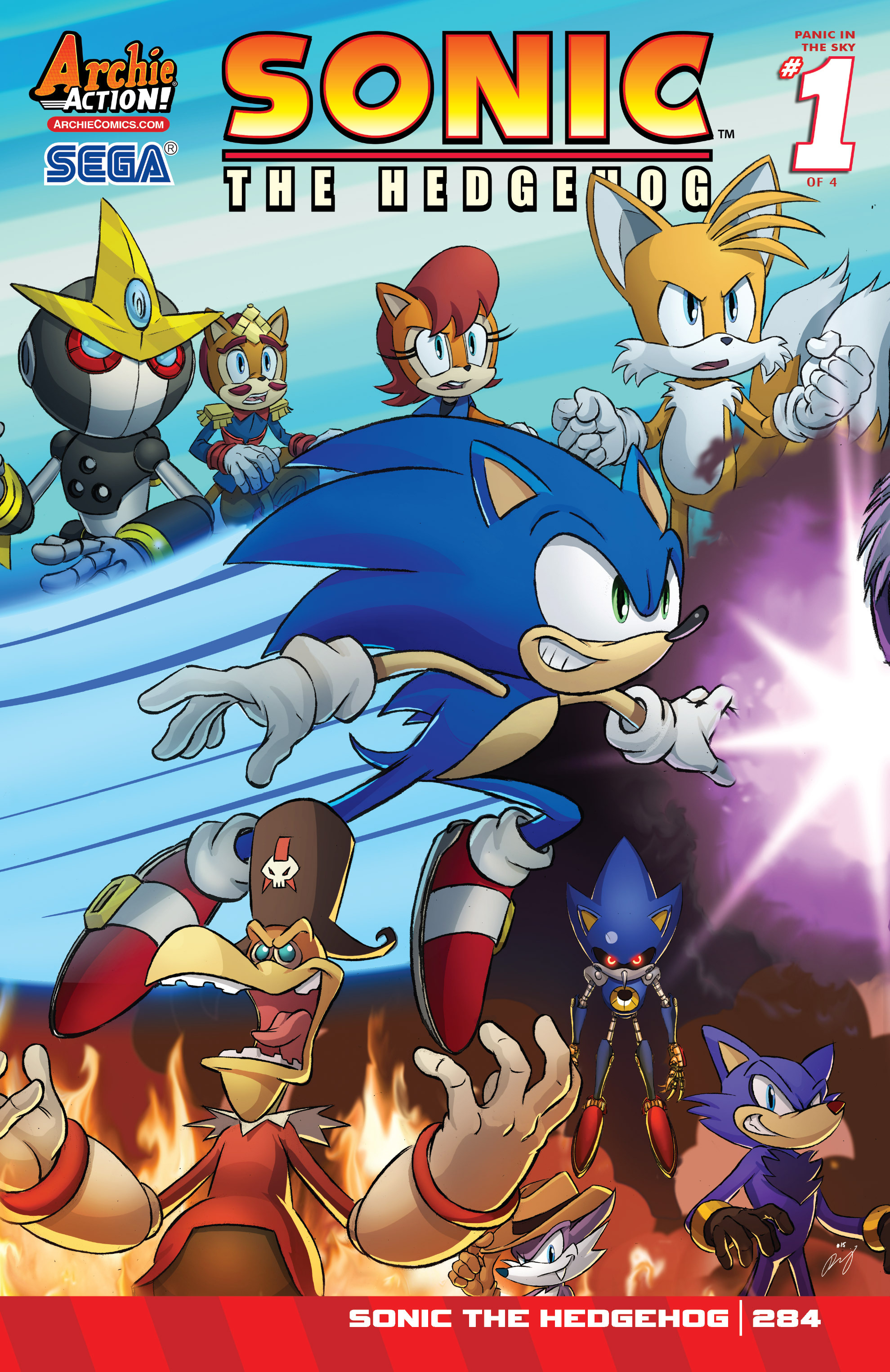 archie sonic the hedgehog issue 284 sonic news network fandom powered by wikia. Black Bedroom Furniture Sets. Home Design Ideas