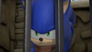 Angry Sonic behind bars