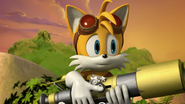 SB - Tails is very notice and watch with Knuckles is take a nap
