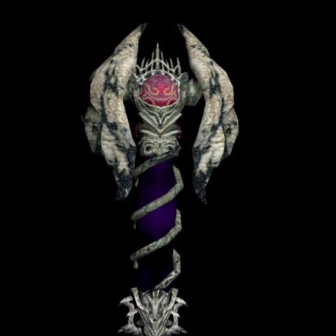 Un modelo del Scepter of Darkness.