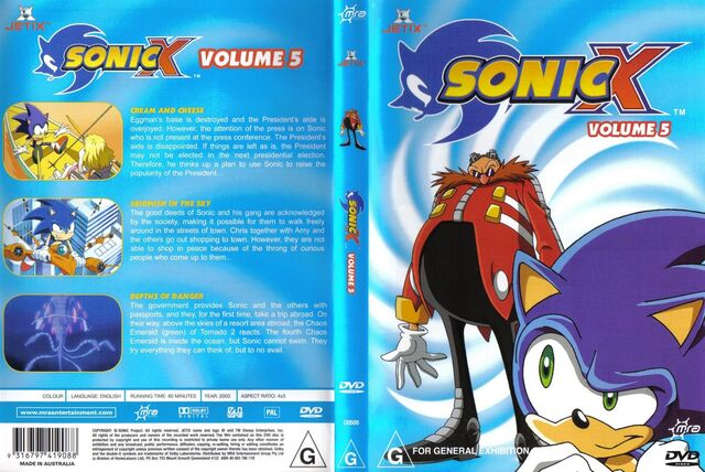File:Sonic X Volume 5 AUS cover.jpg
