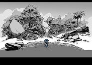 RoL concept art Sonic enters ruins