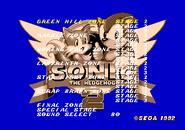 Level Select Sonic 2 Nick Arcade Prototype