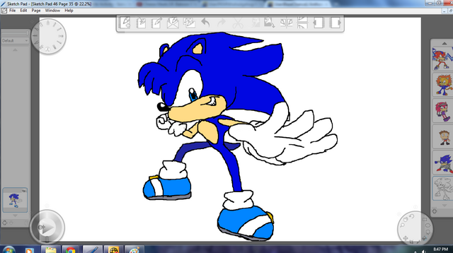 File:Anthony the Hedgehog Redsign By Metal.png