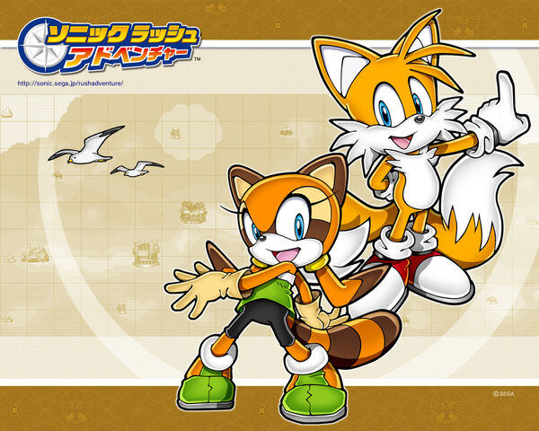 File:Sonic Rush Adventure Marine and Tails wallpaper.jpg