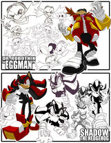 Sketches Eggman Shadow by herms85