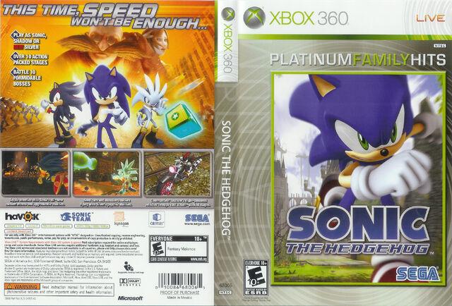 File:Sonic The Hedgehog (2006) - Box Artwork - US Front And Back (Platinum Hits) - (1).jpg