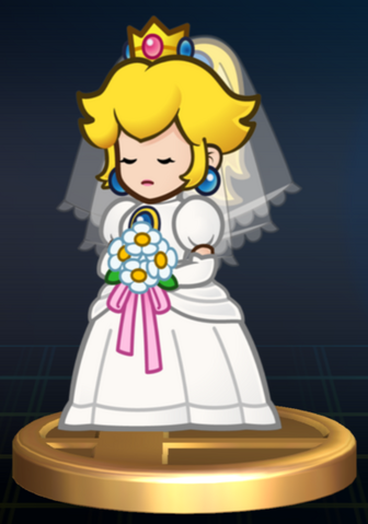 File:Wedding Peach - Brawl Trophy.png