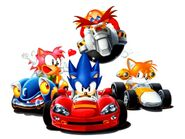 Sonic, Tails, Amy and Robotnik
