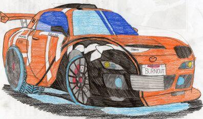 My mazda rx 7 drawn by madgamer55-d6mzak1
