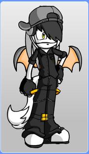 Mark the Bat, made using Furry Dollmaker