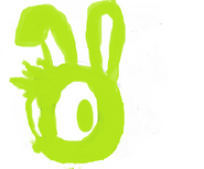 Sam the Rabbit Head Logo