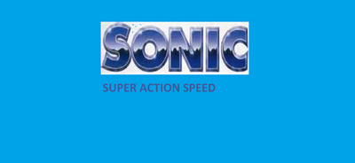 Sonic Super Action Speed Logo