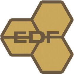 EDF logo gold