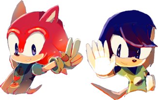 Comm smash the echidna and speedy the hedgehog by quickfoxjumper-damor3w