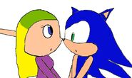 Sonic and Terra looking at each other (In Terra's normal outfit)