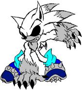 Dark Eco Werehog Sora attacking