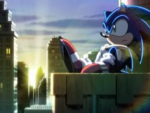 Sonic watching the sun come up