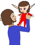 King Reginald and Baby Damas