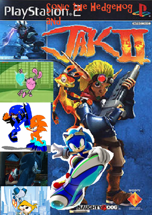 Sonic the Hedgehog and Jak 2 poster