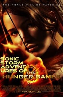 Sonic Storm Adventures of The Hunger Games poster