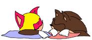 Young Simon and Young Amanda sleeping