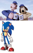 Wallace Sonic and Gromit
