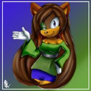 Shimmer the hedgehog hey there by 116555-d4mxish