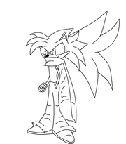 Axle the hedgehog black and white by darkinfernothehedhog-d4h3w58