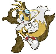 Tails in Riders outfit