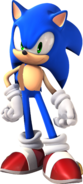 Sonic with a vest